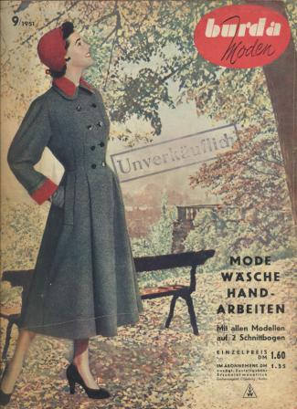 Журнал BURDA MODEN 1951 9