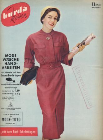 Журнал BURDA MODEN 1953 11
