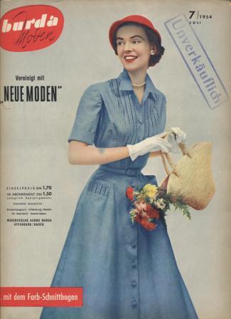 Журнал BURDA MODEN 1954 7