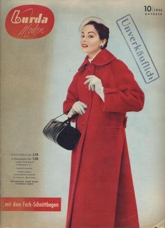 Журнал BURDA MODEN 1955 10