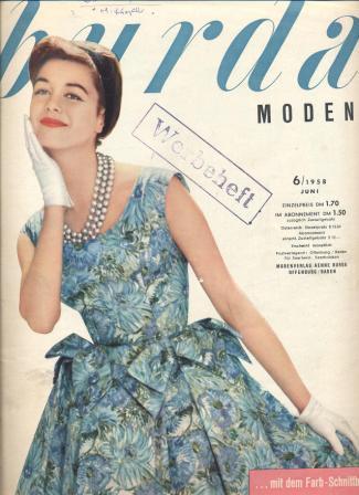 Журнал BURDA MODEN 1958 6
