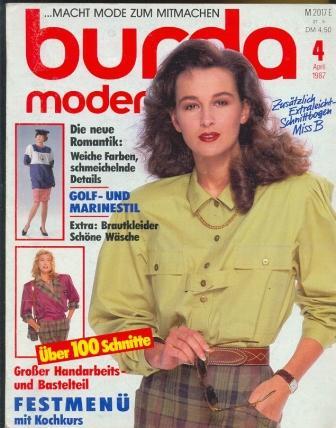 Журнал BURDA MODEN 1987 4