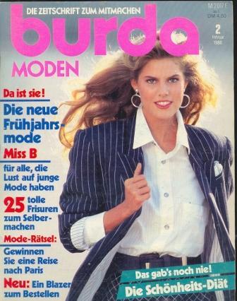 Журнал BURDA MODEN 1988 2 на немецком языке