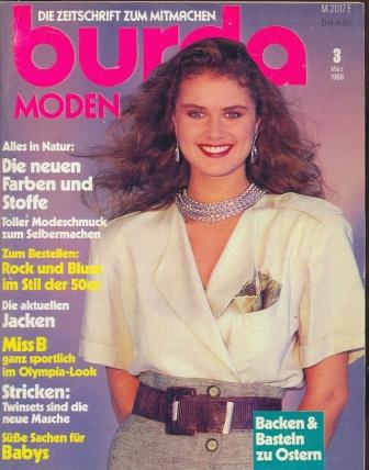 Журнал BURDA MODEN 1988 3