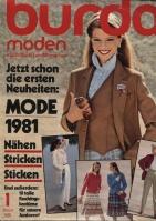 Журнал BURDA MODEN 1981 01