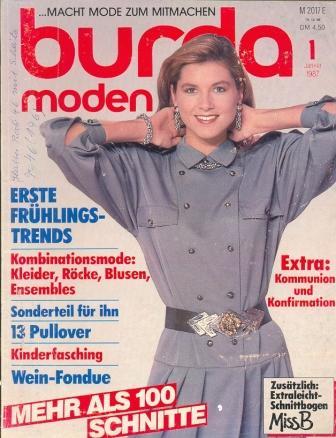 Журнал BURDA MODEN 1987 1 на немецком языке