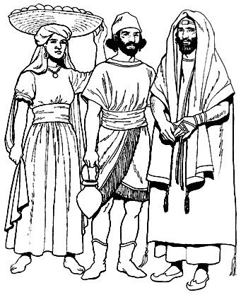 Древнееврейский костюм. Украшения, обувь, вооружение   Мода Древнего ... febbdf355c6