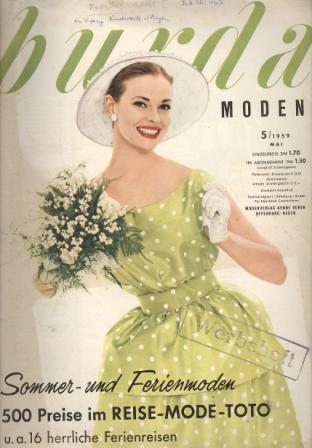 Журнал BURDA MODEN 1959 5