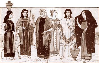 Одежда Древних греков VI вв до н.э. Изображения с древних чернофигурных ваз