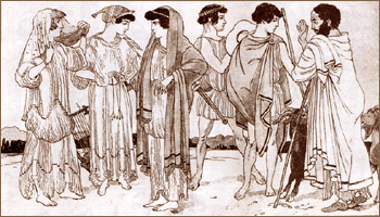 Одежда Древняя Греция VI и V вв. до н.э. Изображения с Ваз
