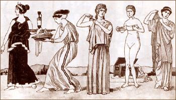 Мода в Древней Греции V в. до н.э.