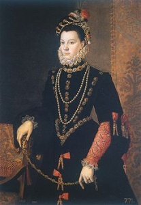 Портрет Елизаветы Валуа работы Хуана Пантохи де ла Круса, ок 1560, Прадо, Мадрид
