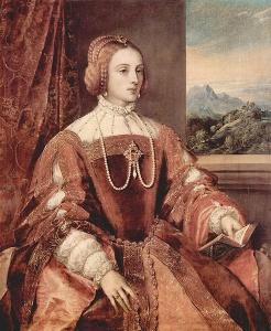 Портрет Изабеллы. Тициан, 1548, музей Прадо, Мадрид