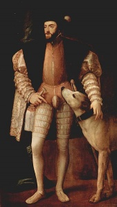 Тициан «Портрет Карла V с собакой», Музей Прадо