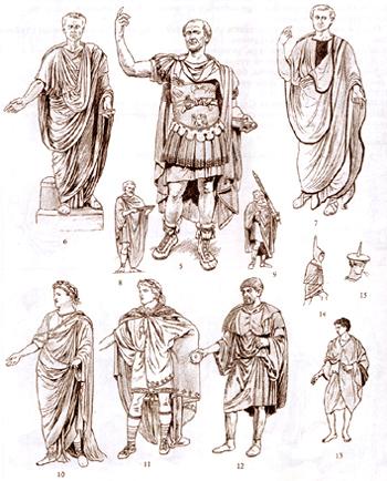 Рим. Мужская одежда