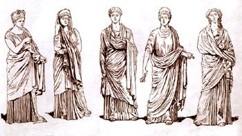 Римские женщины, задрапированные паллой