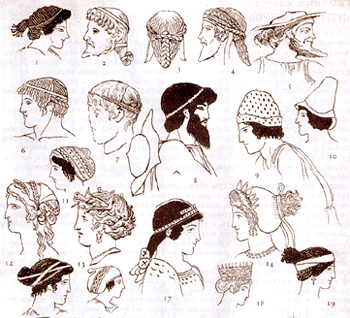 Прически и головные уборы Древней Греции