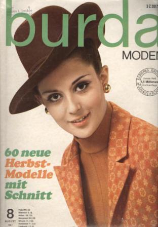 BURDA MODEN (БУРДА МОДЕН) 1967 8
