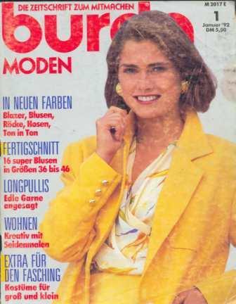 Журнал BURDA MODEN 1992 1