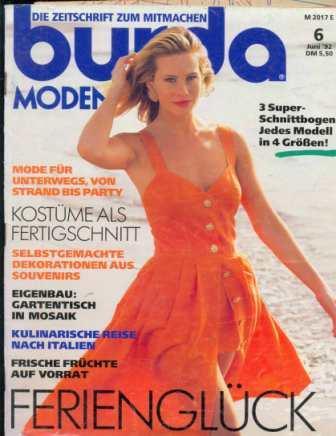 Журнал BURDA MODEN 1992 6