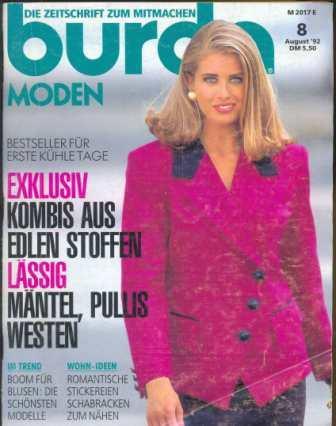 Журнал Burda Moden 1992 8
