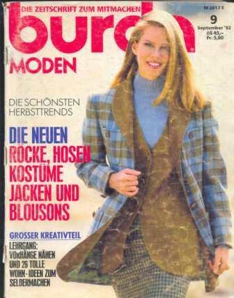 Журнал Burda Moden 1992 9