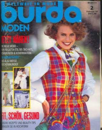 Журнал Burda Moden 1993 2