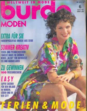 Журнал Burda Moden 1993 6