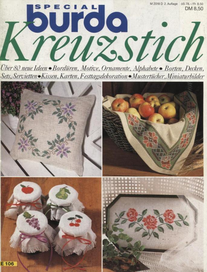BURDA SPECIAL (БУРДА) Kreuzstich (вышивка крестом) 1991 E106 ...