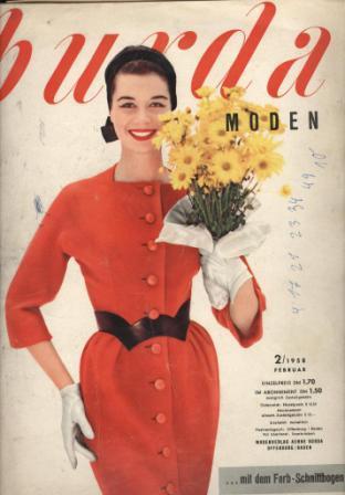 Журнал Burda Moden 1958 2