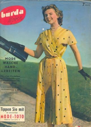 Журнал BURDA MODEN 1952 7