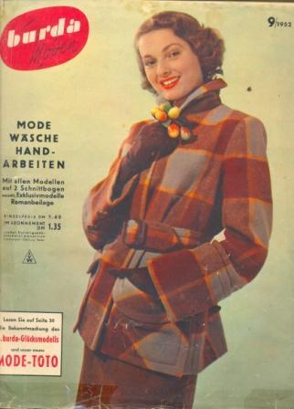Журнал BURDA MODEN 1952 9