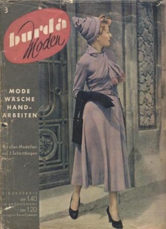 Журнал BURDA MODEN 1950 3
