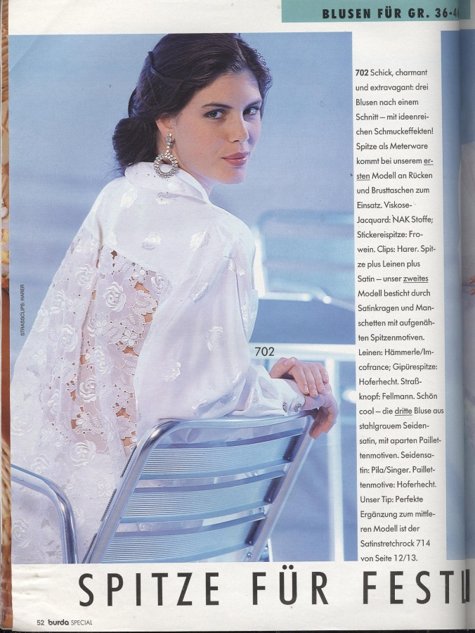 Burda 1 2002 Блузы Юбки Брюки Черный И Белый