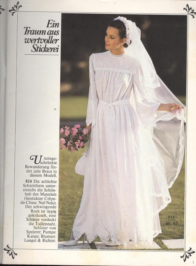 BURDA SPECIAL (БУРДА) Brauntmode E487 1980 9 1980 (свадебная мода)    Библиотека   МОДНЫЕ СТРАНИЧКИ b649addd41f