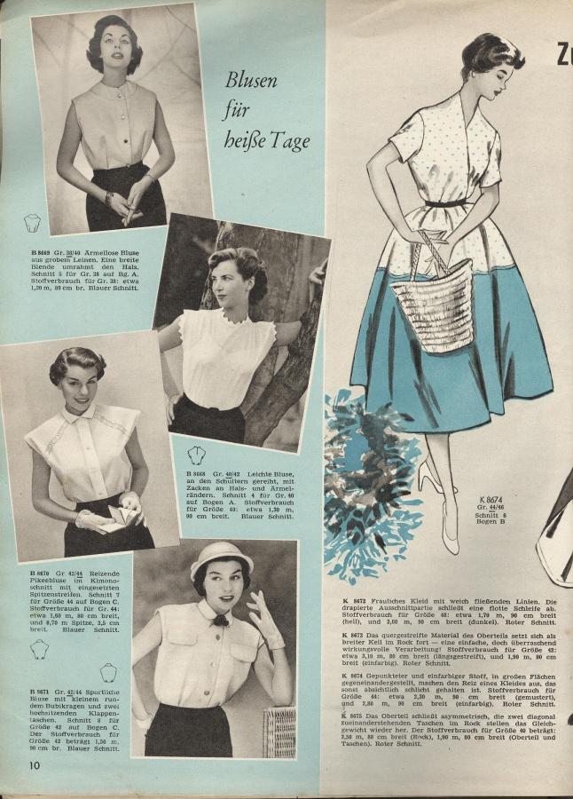 BURDA MODEN 1955 07 (июль)   Библиотека   МОДНЫЕ СТРАНИЧКИ e8d36773c33
