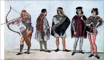 Итальянский костюм эпохи Раннего Возрождения XV в