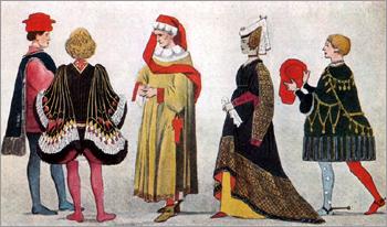 Итальянский костюм эпохи Раннего Возрождения. Влияние бургундской моды. Верхняя Италия. XV в