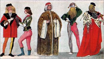 Итальянский костюм эпохи Раннего Возрождения. Влияние бургундской моды. Венеция. XV в