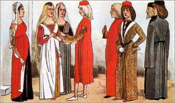 Итальянский костюм эпохи Раннего Возрождения. Феррара. XV в