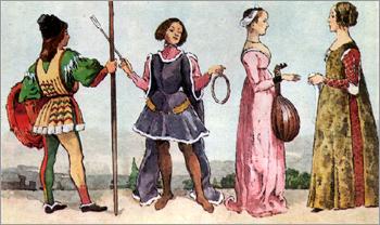 Итальянский костюм эпохи Раннего Возрождения. Феррара. Флоренция. XV в