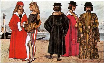 Итальянский костюм эпохи Раннего Возрождения. Венеция. XV в