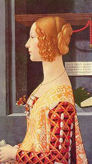 Доменико Гирландайо «Портрет Джованны Торнабуони» Раннее Возрождение Италия