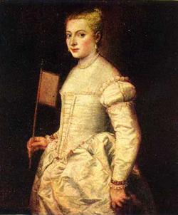 Портрет дамы в белом Тициан