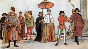 Костюм Италия период Высокого Возрождения