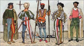 Костюм Верхняя Италия период Высокого Возрождения