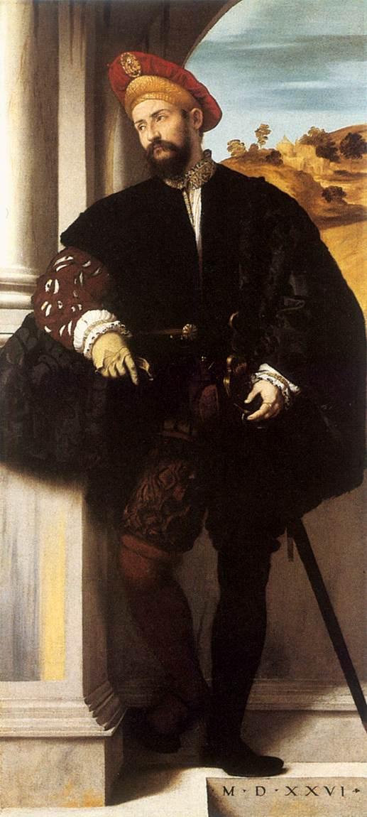 Бонвичино Алессандро (Моретто) Портрет Патриция. Италия. Костюм высокого Возрождения
