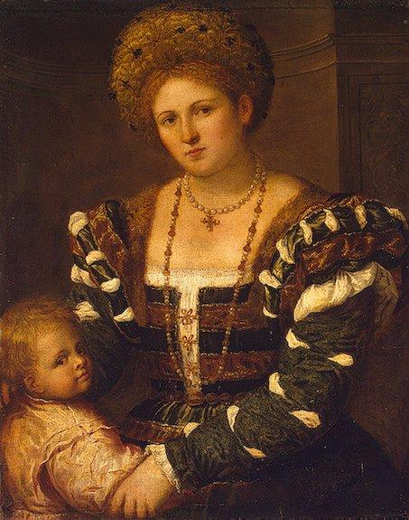 Париса Бордоне Женщина с ребенком. Костюм эпохи Высокого Возрождения Италия