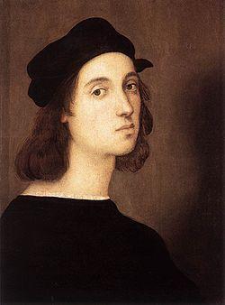 Рафаэль Санти. Автопортрет. Головной убор эпохи высокого Возрождения Италия