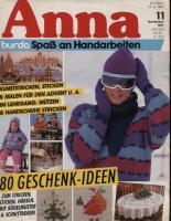 Журнал ANNA АННА (Журнал Энне Бурда) 1987 11